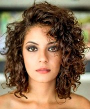 glamorous mid length curly hairstyles