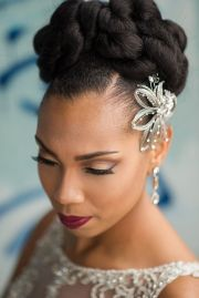 latest and stylish black updo