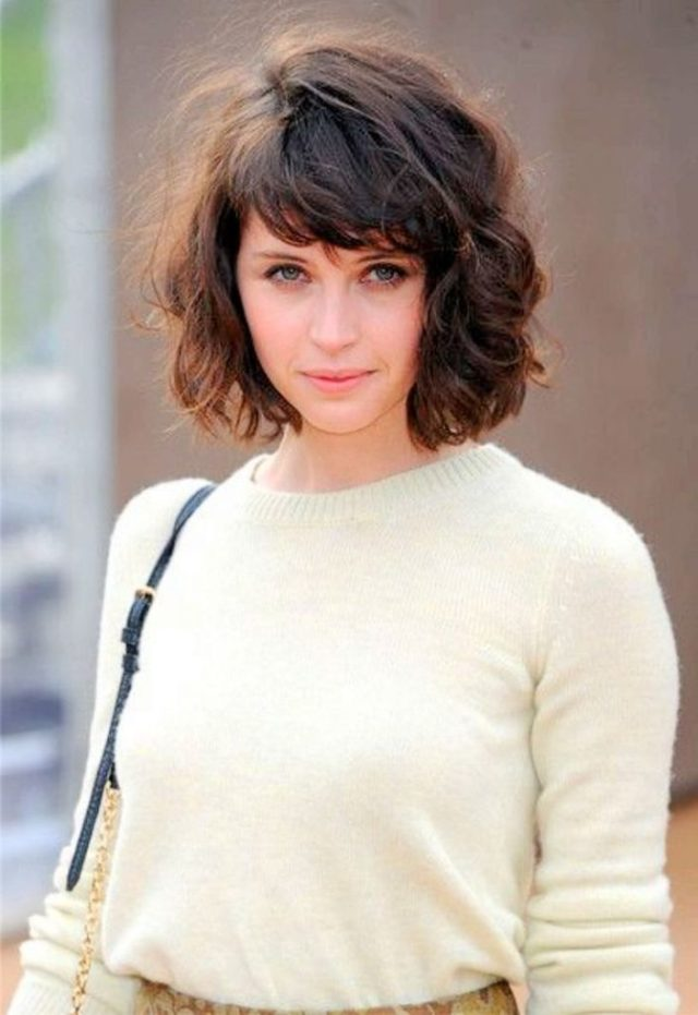 22 urban cool curly hairstyles with bangs - haircuts