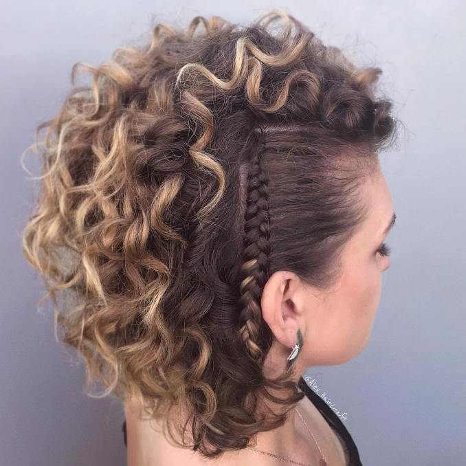 25 worth trying curly hairstyles with braids - haircuts