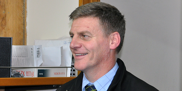 Bill English, prime minister of New Zealand