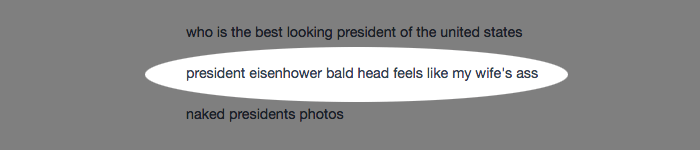 president eisenhower bald head feels like my wife's ass