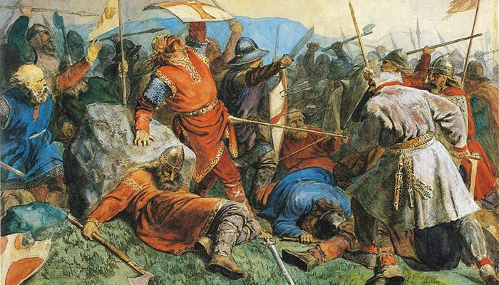 Olav den helliges fall i slaget på Stiklestad