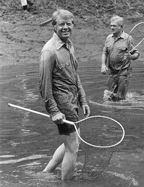 Jimmy Carter in a bathing suit