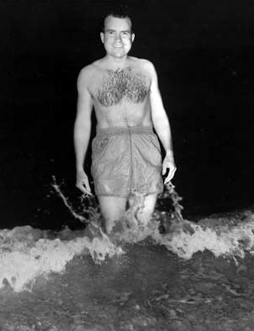 Richard Nixon in a bathing suit