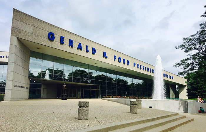 Gerald R. Ford Presidential museum exterior
