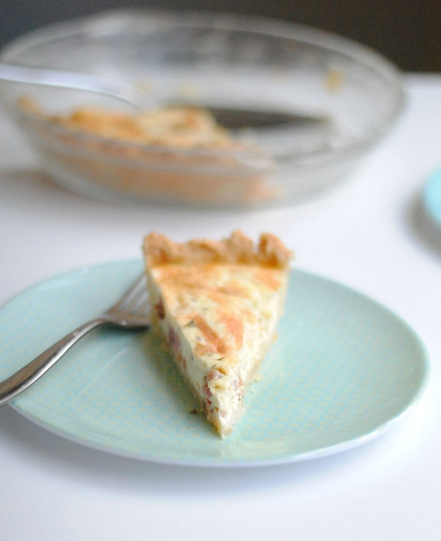 Ham & Cheese Quiche | Hottie Biscotti