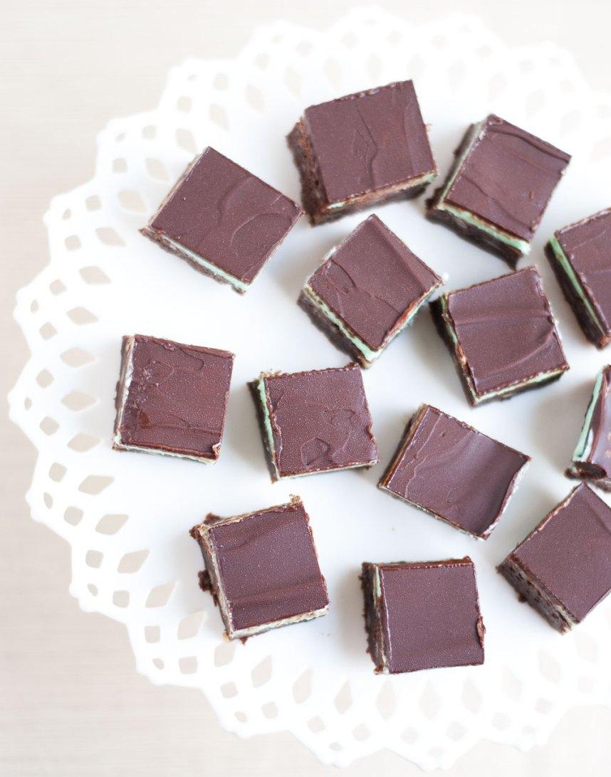 Chocolate Peppermint Squares | Hottie Biscotti