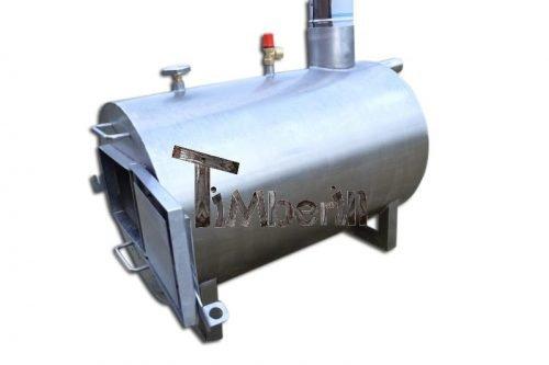 Externe roestvrij staal kachel voor hot tubs met decoratie [Rond model]