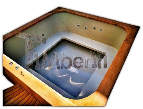 Kunststof Hottub Vierkant Micro zwembad