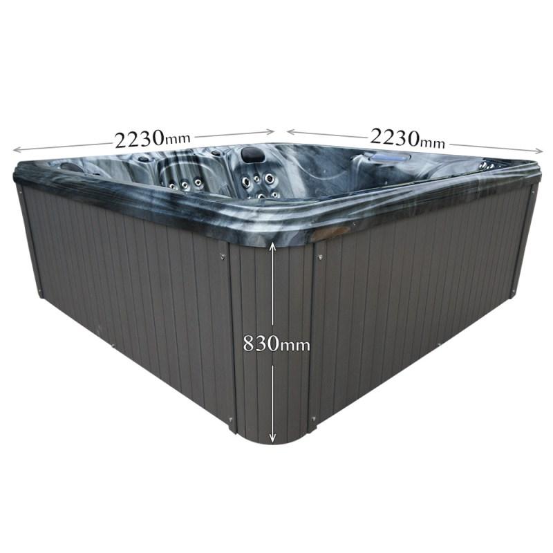 Dream Stream - 5 Person Hot Tub Dimension graphic