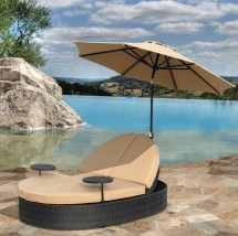Solara Outdoor Patio Double Chaise Lounge - Hot Tubs And