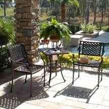 Charleston Outdoor Patio Bistro Set - Hot Tubs And Pool