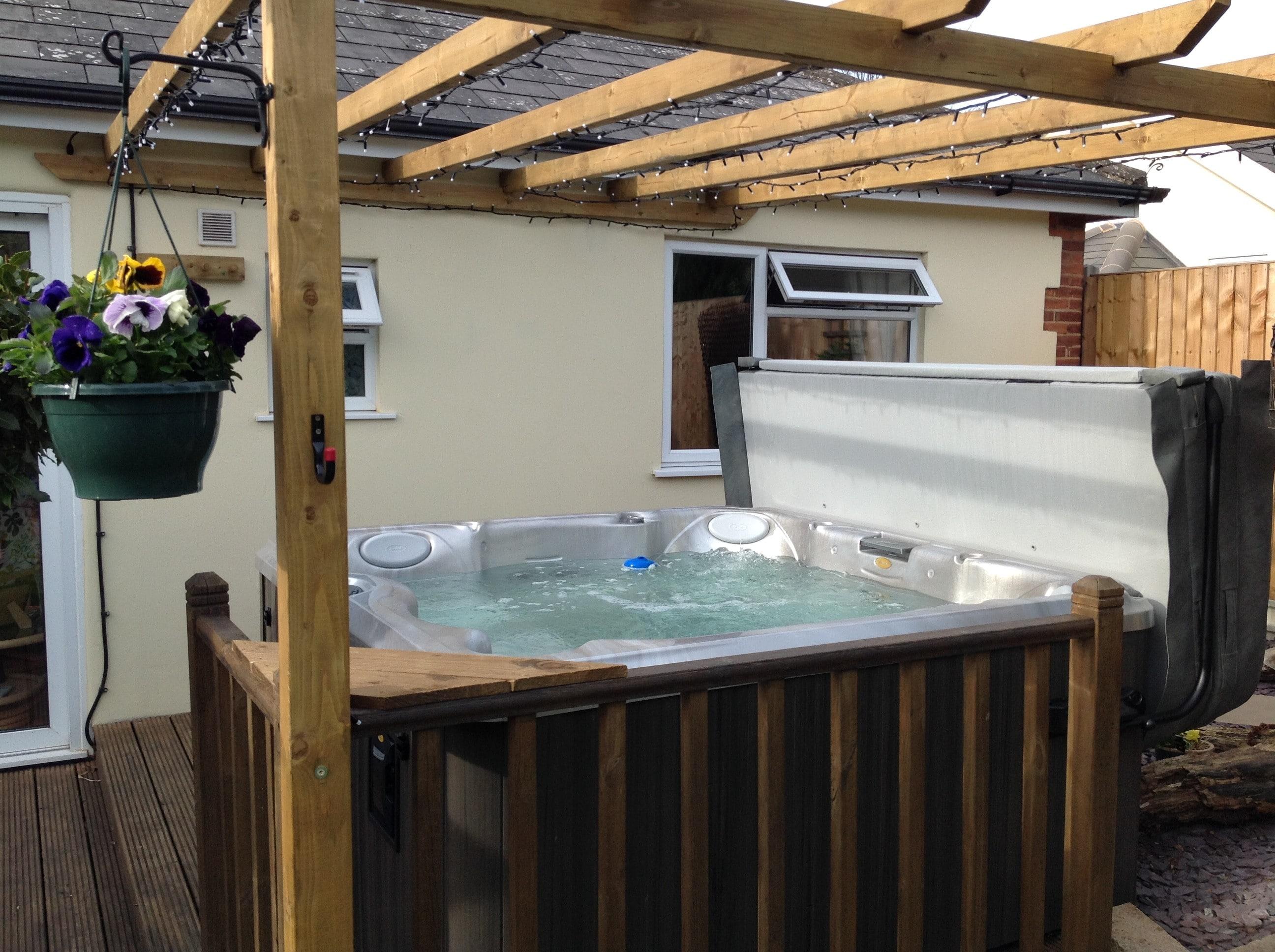 Customer hot tub installation