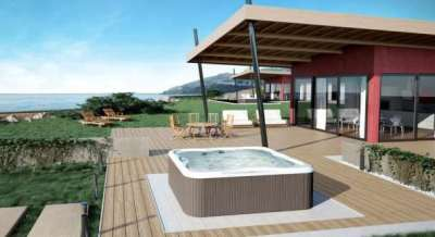 Jacuzzi lodge on decking