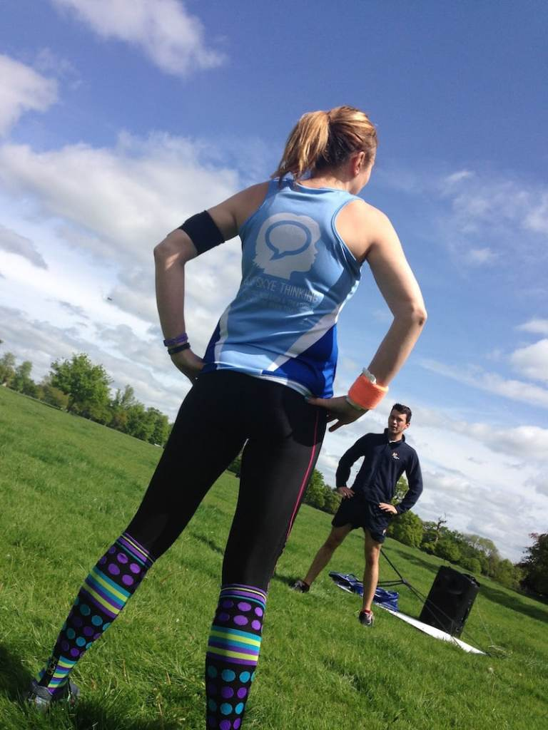 Running for BST in RMR tribe socks