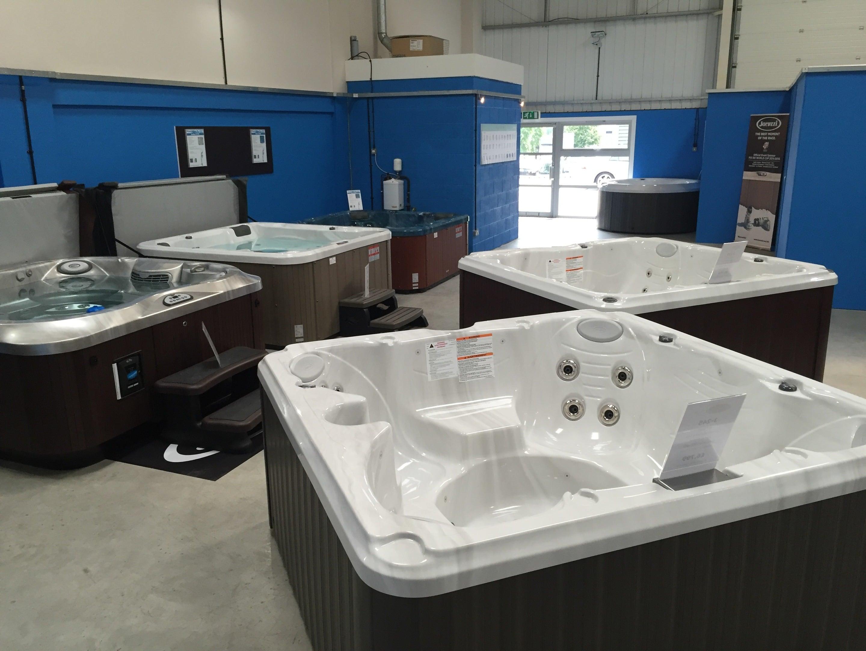 hot tubs on display