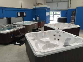 hot tubs on display