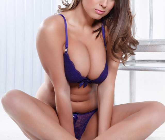 Sarah Mcdonald Purple Lingerie