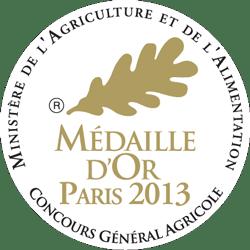 Médaille d'Or Paris 2013