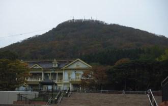 元町公園から見た函館山