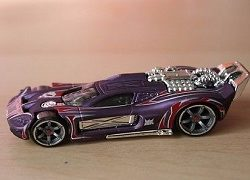 Hot Wheels Acceleracers Spine Buster Purple
