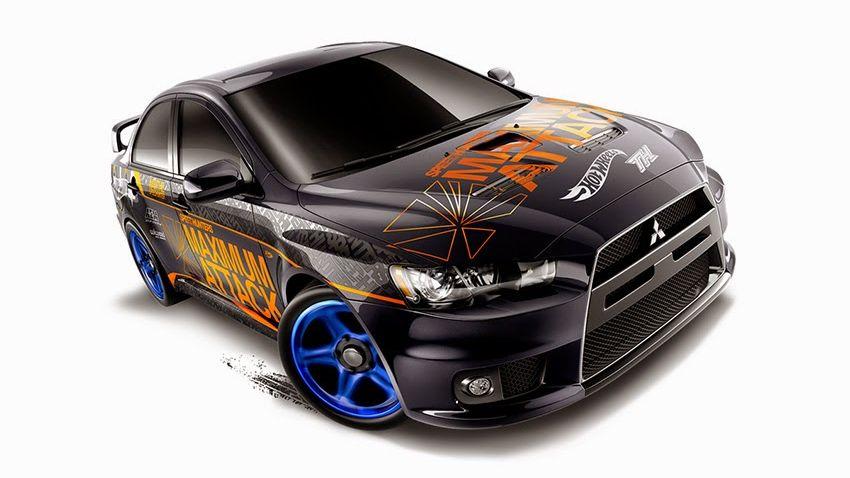 mitsubishi lancer hot wheels 2015