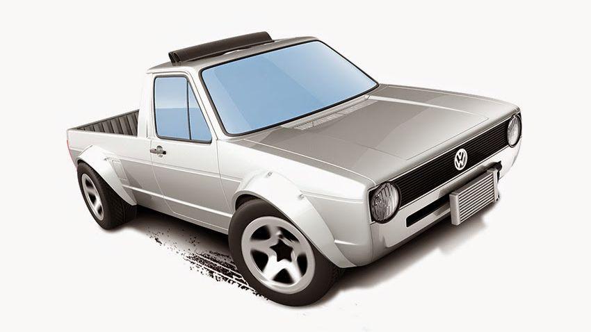 volkwagen caddy pickup hot wheels 2015