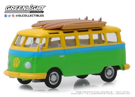 GreenLight-Collectibles-Club-V-Dub-9-1964-Volkswagen-Samba-Bus-Surfboards