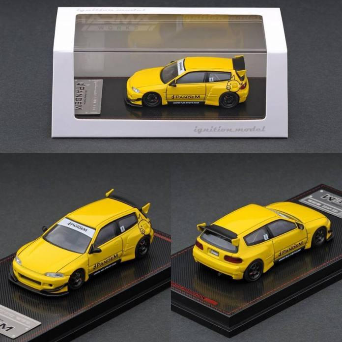 Tarmac-Works-Honda-Civic-EG6-Pandem-yellow