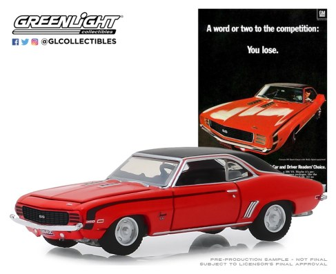 GreenLight-Collectibles-Vintage-Ad-Cars-1969-Chevrolet-Camaro-SS