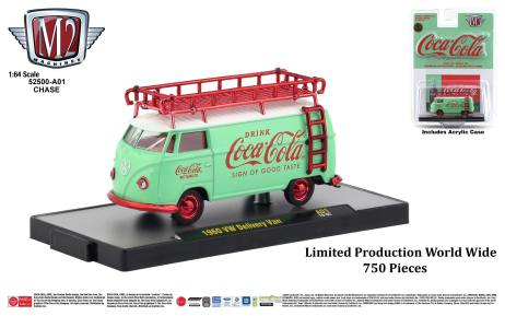 M2-Machines-Coca-Cola-Series-1960-VW-Delivery-Van-Chase