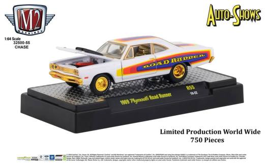 M2-Machines-Auto-Shows-Release-55-1969-Plymouth-Road-Runner-Chase-Car
