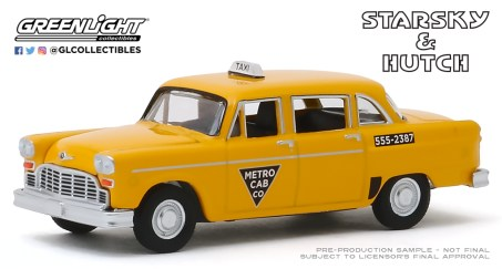 GreenLight-Collectibles-Hollywood-Special-Edition-Starsky-and-Hutch-1968-Checker-Taxi-Metro-Cab-Co