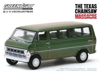 GreenLight-Collectibles-Hollywood-27-1972-Ford-Club-Wagon-The-Texas-Chain-Saw-Massacre