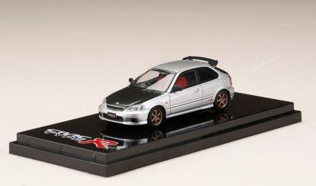 Hobby-Japan-Honda-Civic-Type-R-EK9-Custom-Version-Carbon-Bonnet-Borg-Silver-Metallic-001