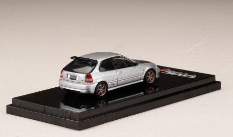 Hobby-Japan-Honda-Civic-Type-R-EK9-Custom-Version-Carbon-Bonnet-Borg-Silver-Metallic-002