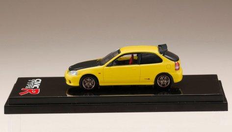 Hobby-Japan-Honda-Civic-Type-R-EK9-Custom-Version-Carbon-Bonnet-Sunlight-Yellow-003