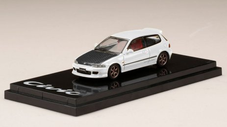 Honda-Civic-EG6-Custom-Version-Carbon-Bonnet-White-001
