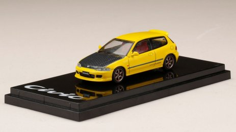 Honda-Civic-EG6-Custom-Version-Carbon-Bonnet-Yellow-001