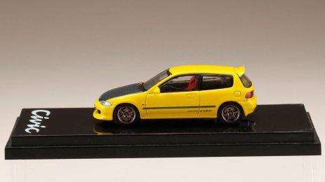 Honda-Civic-EG6-Custom-Version-Carbon-Bonnet-Yellow-003