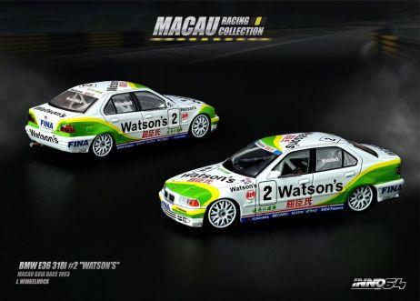 Inno-64-Macau-Grand-Prix-2019-Special-BMW-E36-318i-2-Watson-s-Macau-Guia-Race-1993-J-Winkelhock