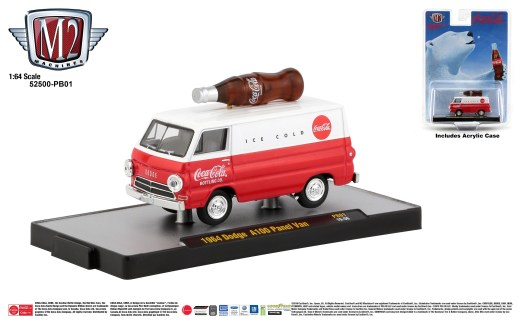 M2-Machines-Coca-Cola-1964-Dodge-A100-Panel-Van