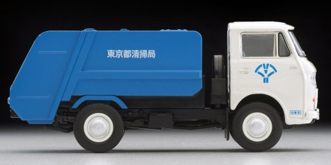 Tomica-Limited-Vintage-Neo-Mazda-E2000-cleaning-truck-Blanc-bleu-007