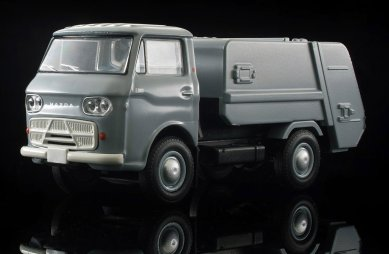 Tomica-Limited-Vintage-Neo-Mazda-E2000-cleaning-truck-Gris-008