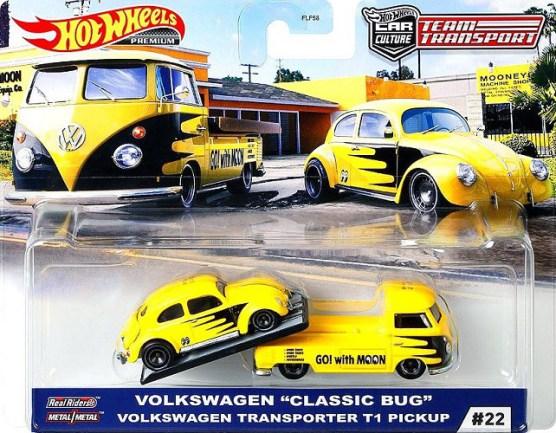 Hot-Wheels-Car-Culture-Team-Transport-Volkswagen-Classic-Bug-Volkswagen-Transporteur-T1-Pickup-Mooneyes