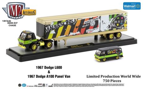 M2-Machines-Auto-Haulers-Walmart-1967-Dodge-L600-1967-Dodge-A100-Panel-Van-Chase
