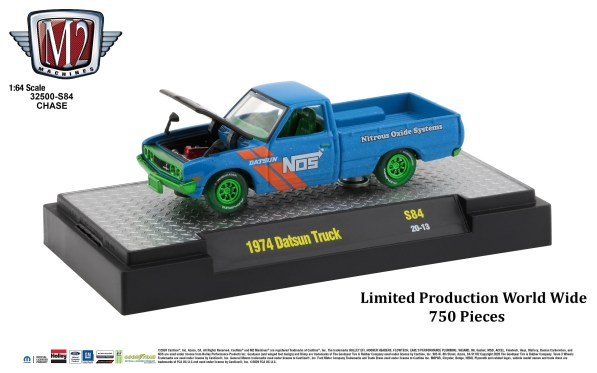 M2-Machines-O-Reilly-Autoparts-1974-Datsun-Truck-Nos-Chase-Edition