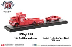M2-Machines-Coca-Cola-haulers-1970-Ford-C-950-1966-Gasser-Ford-Mustang-Coca-Cola-Chase