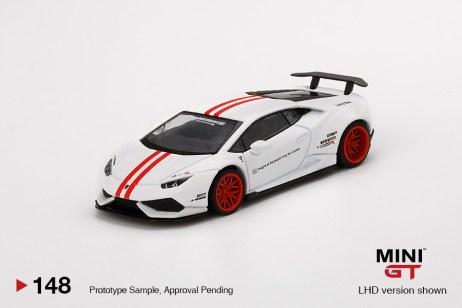 Mini-GT-LB-WORKS-Lamborghini-Huracán-Version-1-White-Red-Stripe-001